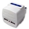 5691 - ADATTATORE A 2 USCITE SPINA ITA 16A  PIU 2 USB 5V 2.1A